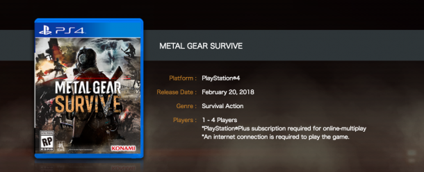 بازی Metal Gear Survive